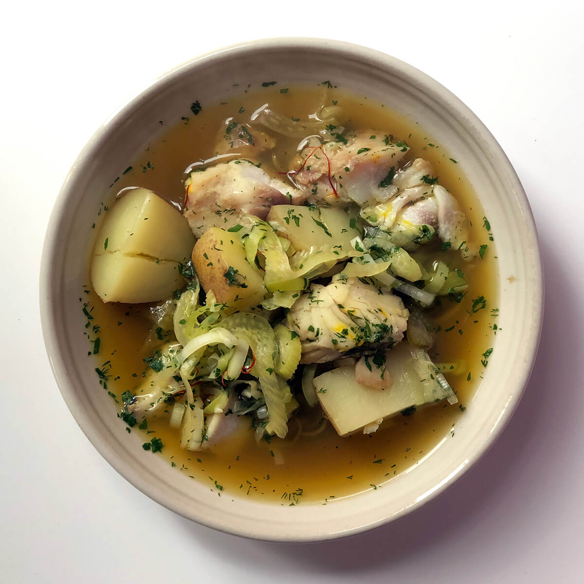Light and Fragrant Fish Broth