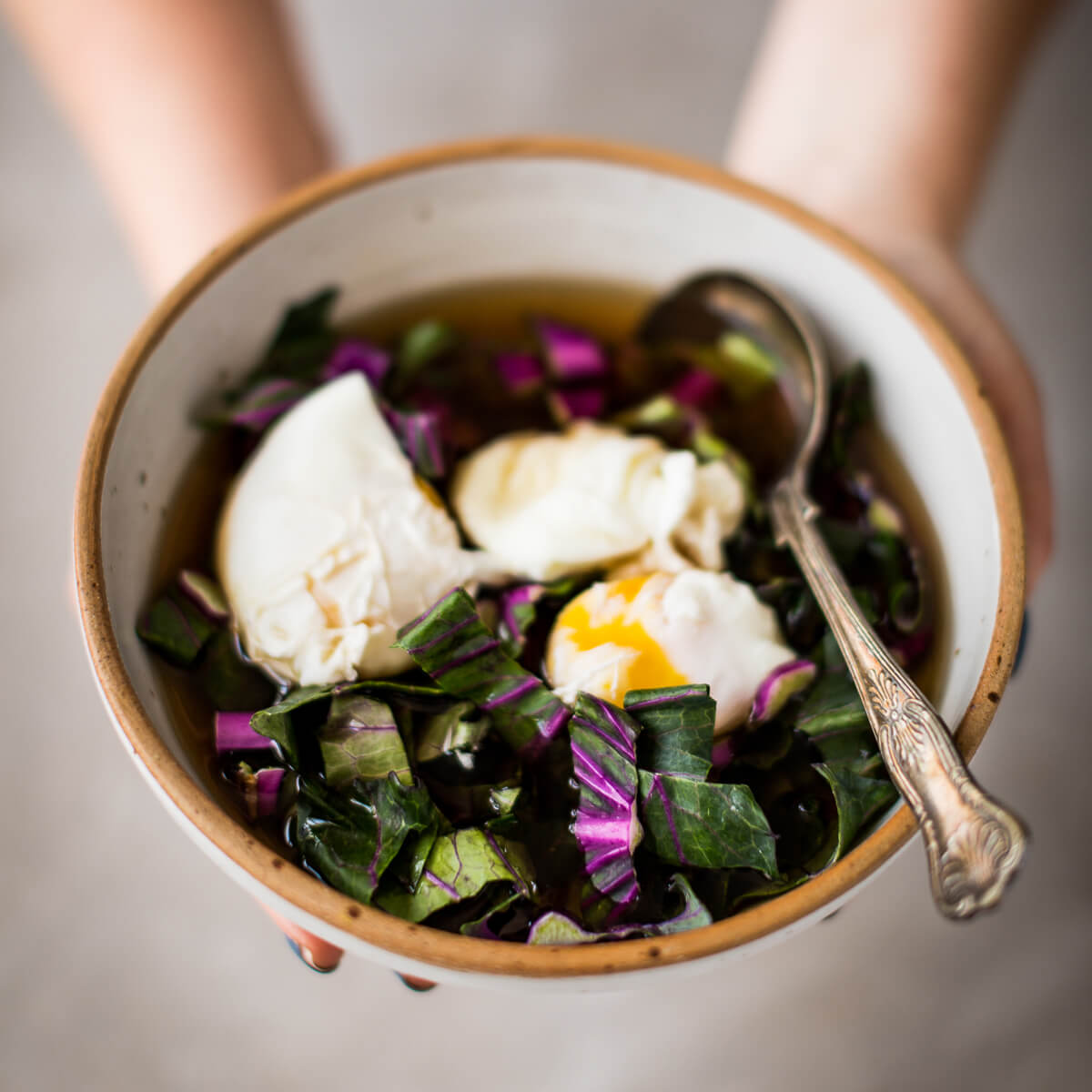 Poached Eggs in Beef Bone Broth